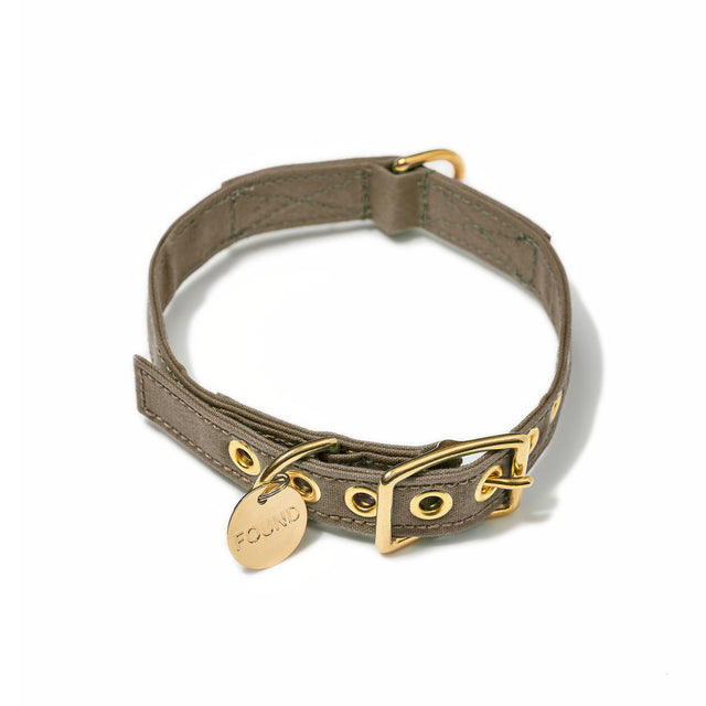 Brown Cotton Canvas Cat & Dog Collar