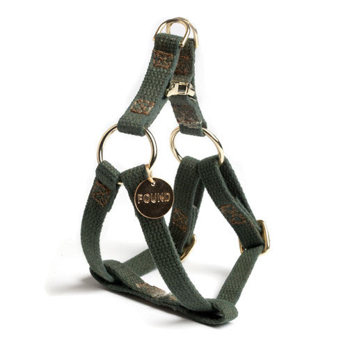 Olive Cotton Cat or Dog Harness