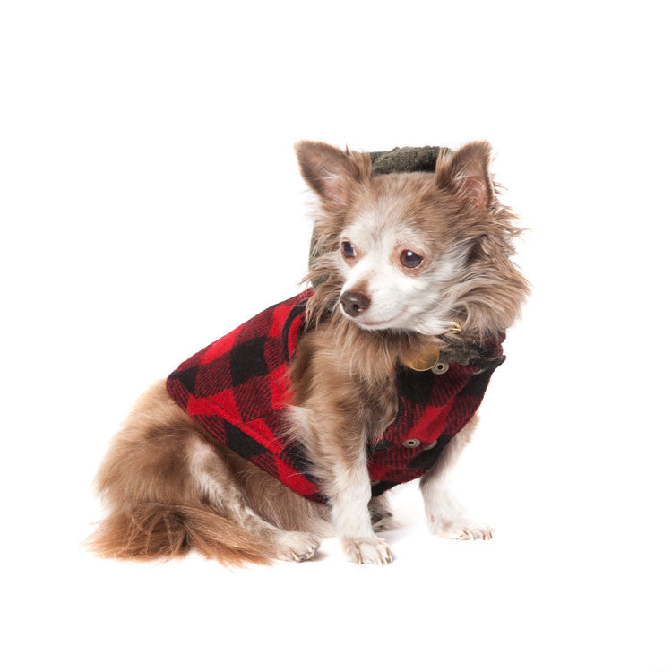 Buffalo Plaid Reversible Waxed Cotton Vest