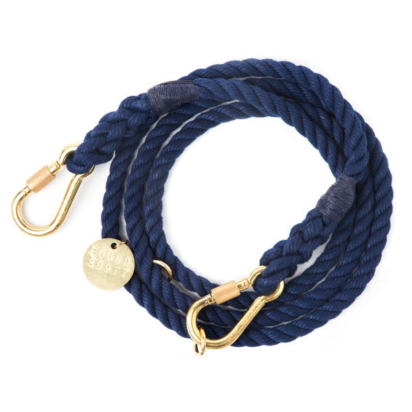 Navy Adjustable Rope Leash