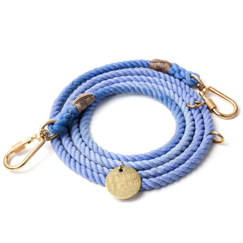Periwinkle Adjustable Cotton Rope Leash