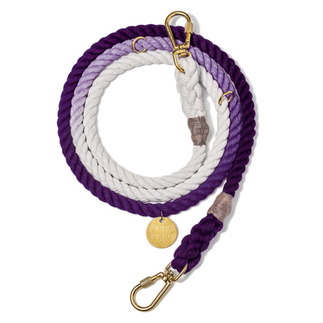 Purple Ombre Cotton Adjustable Rope Leash