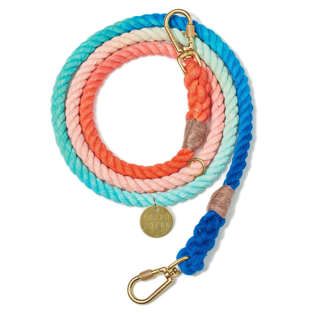 Sweet Pea Ombre Cotton Adjustable Rope Leash