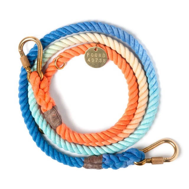 Sweet Pea Ombre Adjustable Cotton Rope Leash