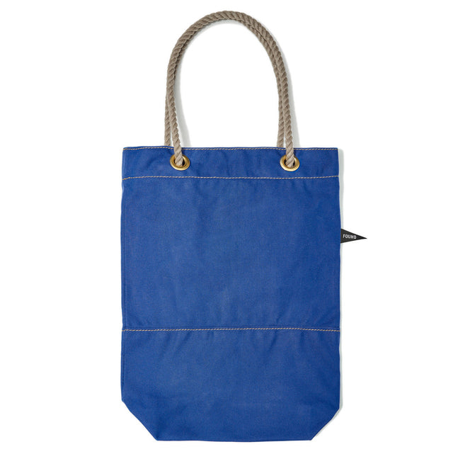 Bright Blue Waxed Canvas Tote