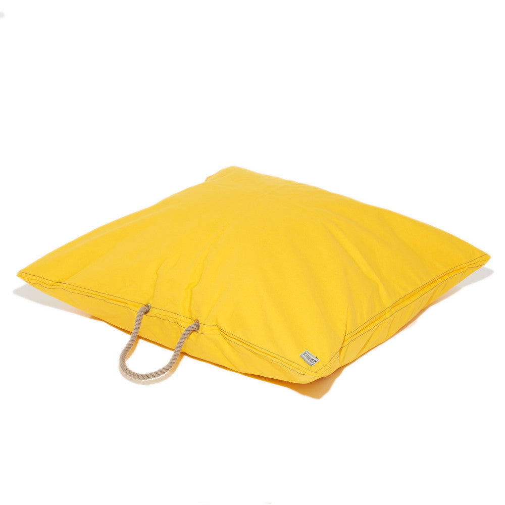 Yellow Waxed Cotton Canvas Dog Bed