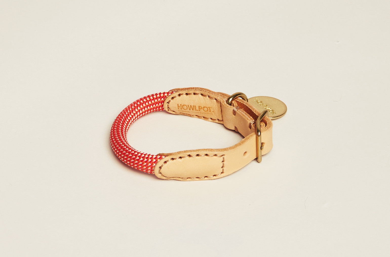 Howlpot Collar in Coral Aid (Extra Small Only)