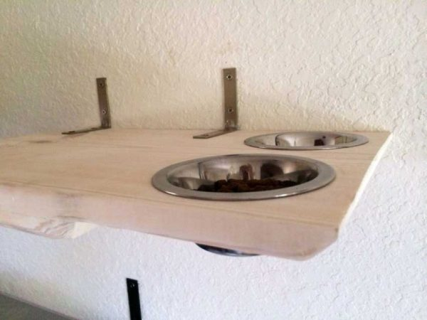 Wall Mounted Cat Dining Shelf