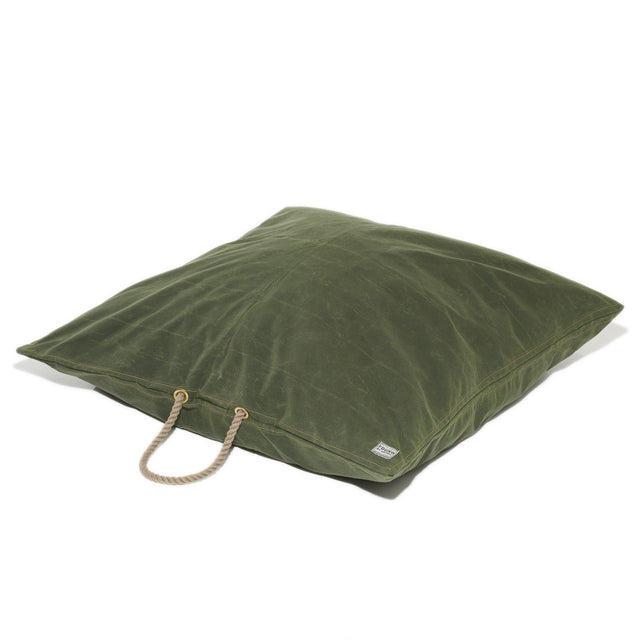 Evergreen Waxed Cotton Canvas Dog Bed