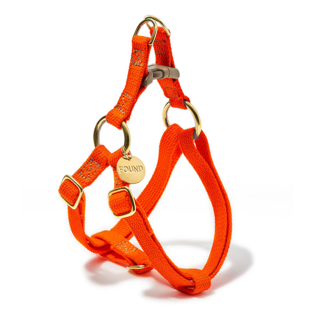 Orange Cotton Cat or Dog Harness
