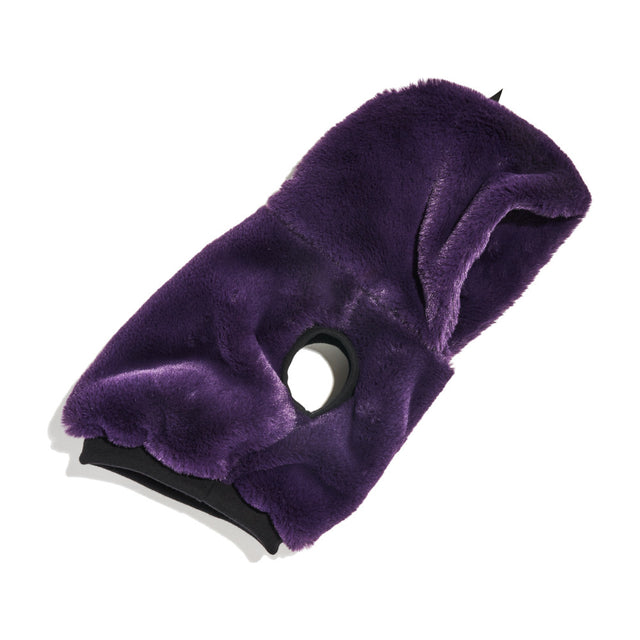 FOUND MY ANIMAL FAUX FUR HOODIE, PURPLE