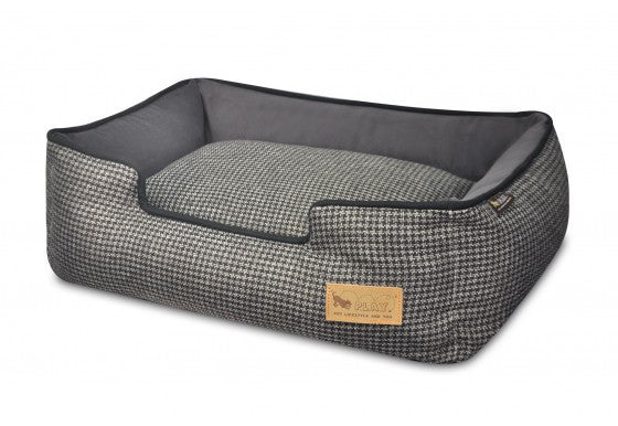 Shadow Grey Houndstooth Lounge Bed