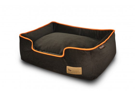 Walnut Urban Plush Lounge Bed