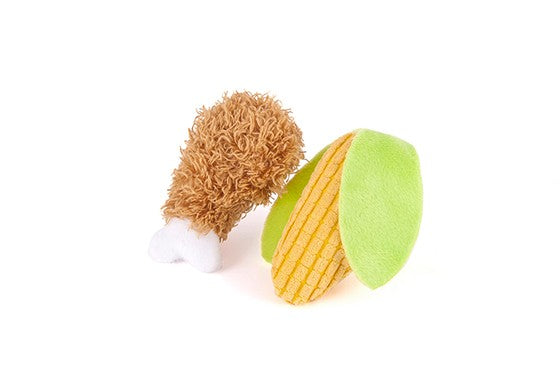 Fried Chicken & Corn w/ Catnip - Cat Toy 2 pack