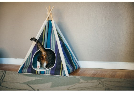 Horizon Blue Stripe Pet Teepee