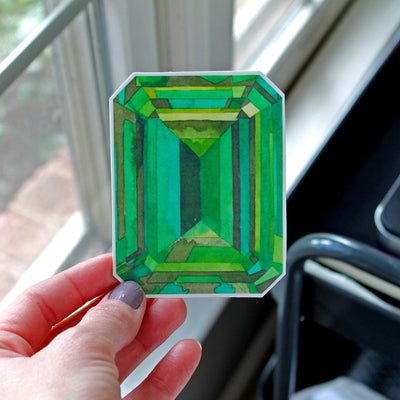 Emerald Gem Vinyl Sticker - Sandra Black Culliton