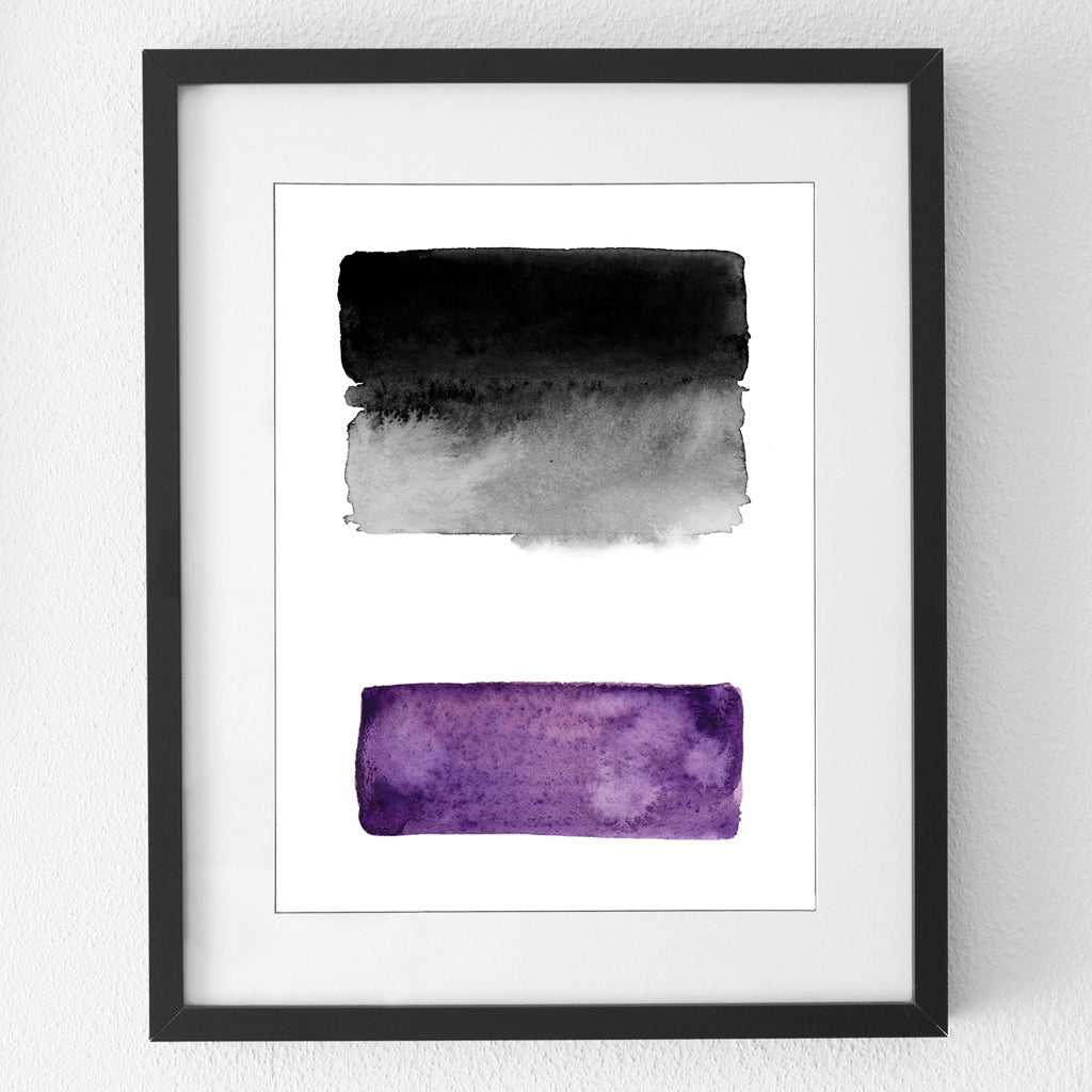 Asexual flag print