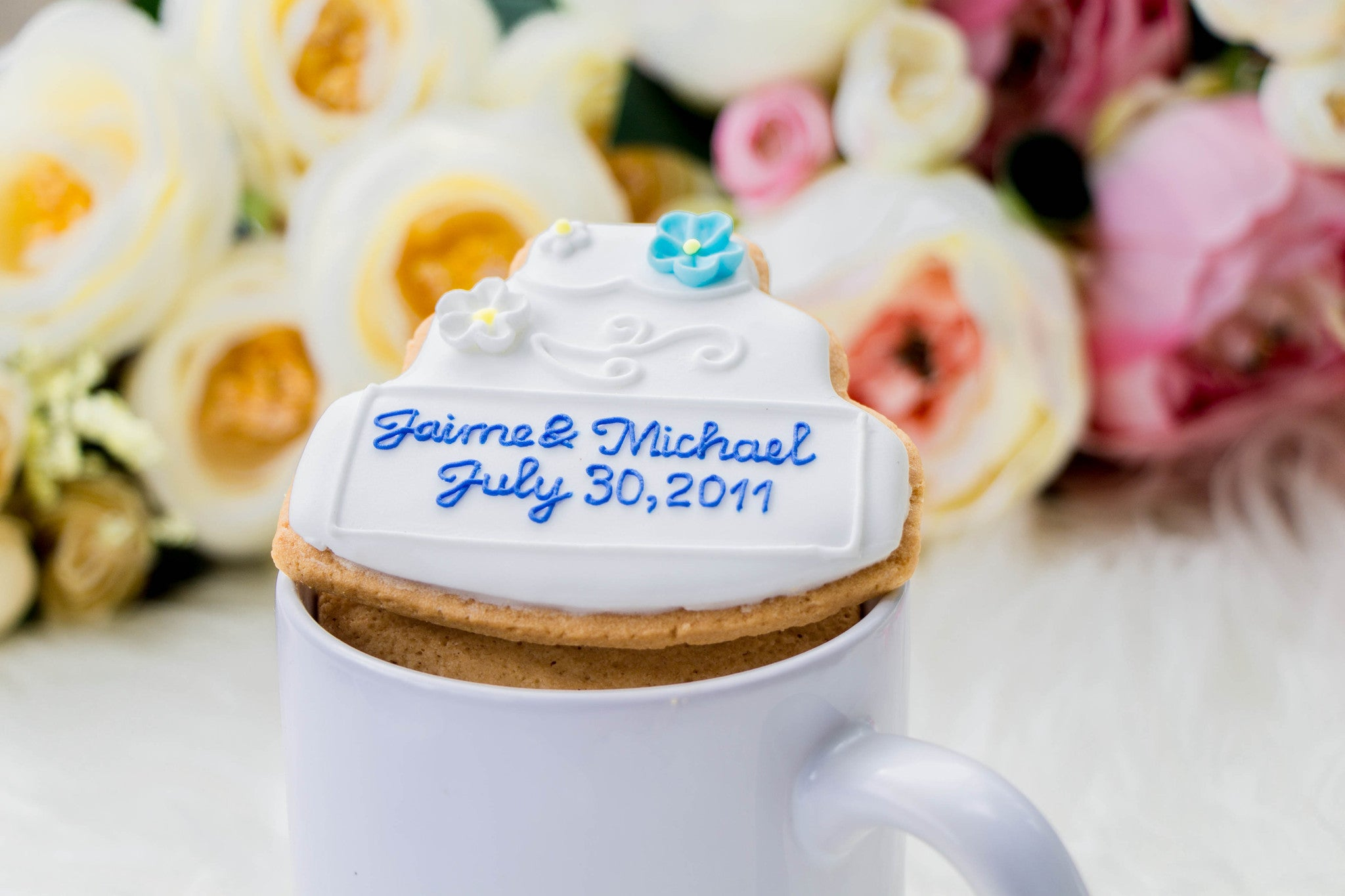 Customizable Wedding Cookies - Edible Wedding Favors – 99Merci