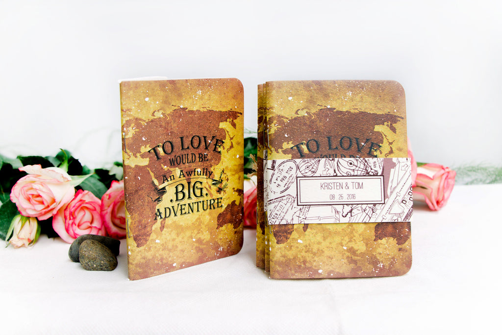 To Love Would Be An Awfully Big Adventure Wedding Favors Notebook