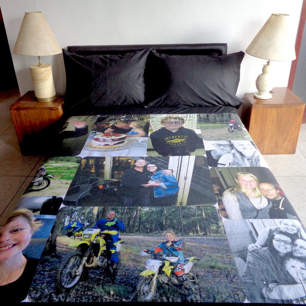 UK Single - 135cm x 200cm.... with 1 plain pillow case