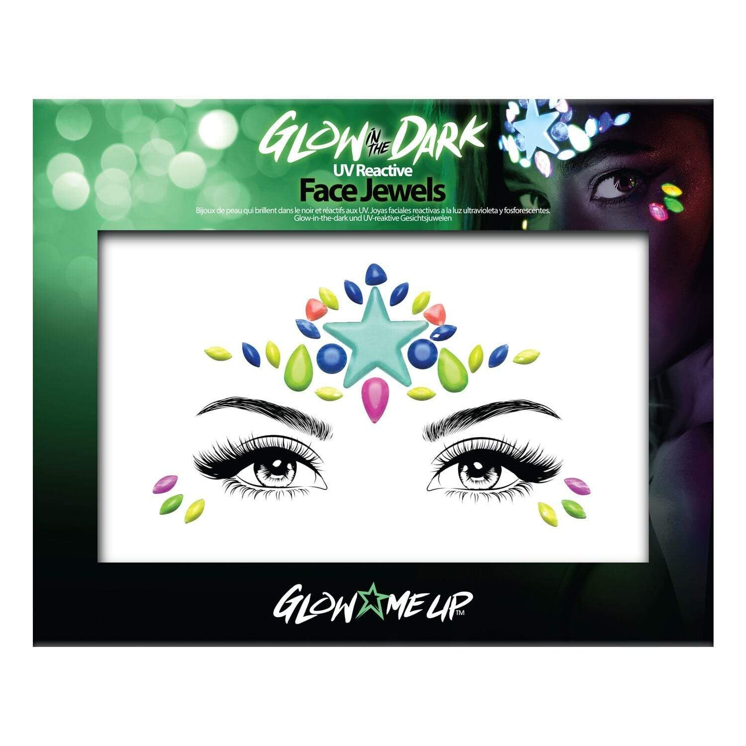 Glow In The Dark Face Jewels - Jolie Beauty