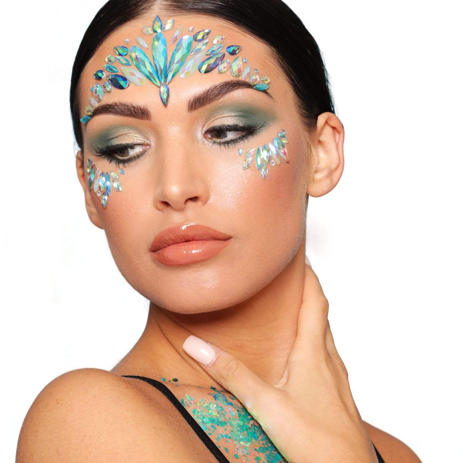 Festival Face Jewels - Iridescent Mermaid - Jolie Beauty (4457565847627)