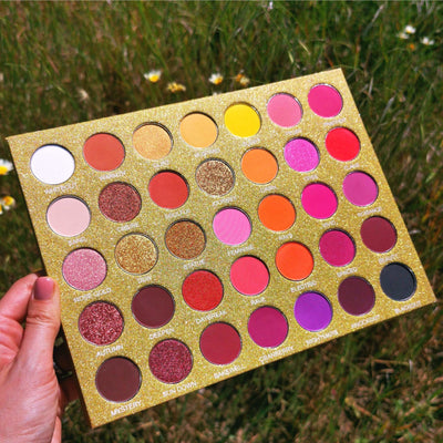 Golden Skies - 35 Shade Sunset Eyeshadow Palette - Jolie Beauty
