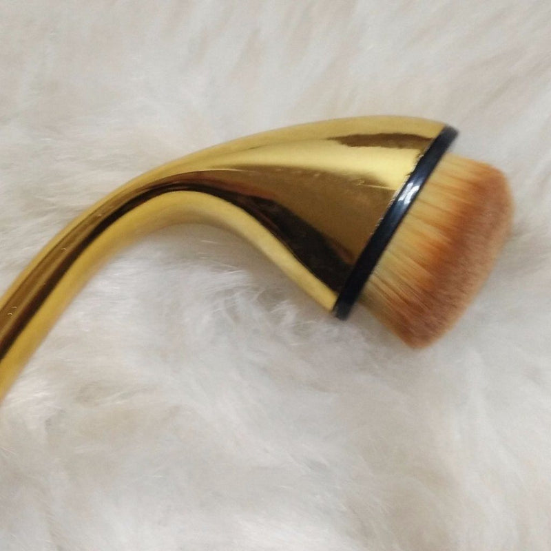Single Oval Brush F04 - Blender Brush Single Makeup Brush Jolie Beauty Gold