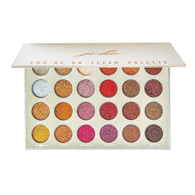 You're On Fleek - 24 Shade Glitter Palette - Jolie Beauty