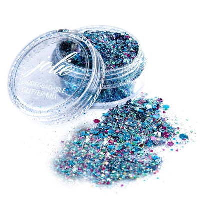 Biodegradable Chunky Mixed Festival Glitter - Intergalatic - Jolie Beauty