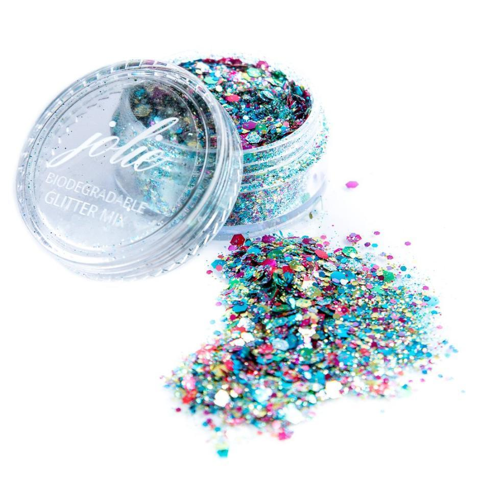 Biodegradable Chunky Mixed Festival Glitter - Save the Rave - Jolie Beauty