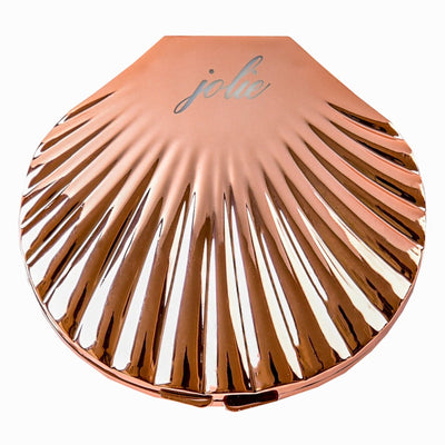 Rose Gold Compact Mermaid Mirror - Jolie Beauty (244222787605)