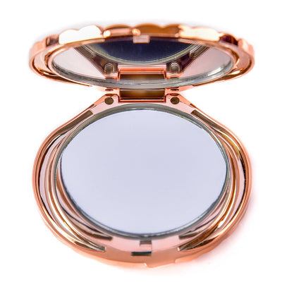 Rose Gold Compact Mermaid Mirror
