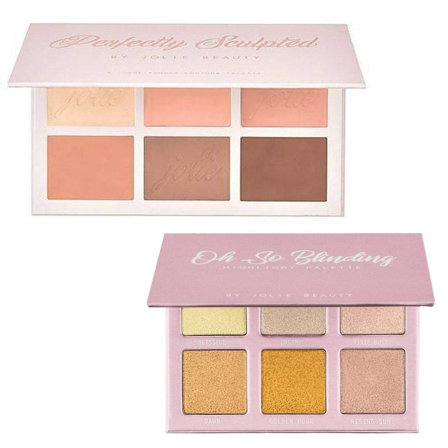 Perfectly Sculpted & Oh So Blinding Palette Bundle - Jolie Beauty