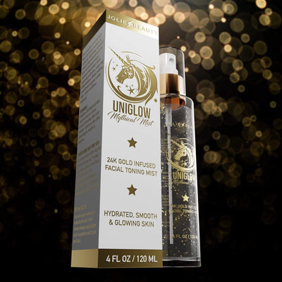 UniGlow Mythical Mist - 24K Gold Tone & Glow Spray - Jolie Beauty