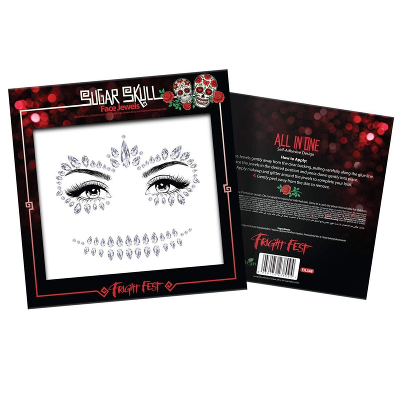 Skull Face Jewels - Halloween Collection Accessories Jolie Beauty