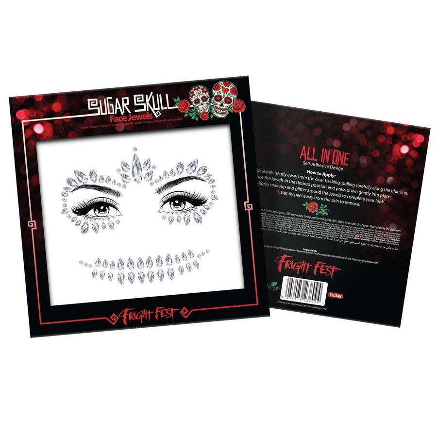 Skull Face Jewels - Halloween Collection - Jolie Beauty