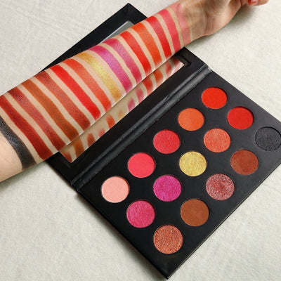 <h1>WildFire Palette</h1>-  Warm & Pigmented Eyeshadow Palette - Jolie Beauty