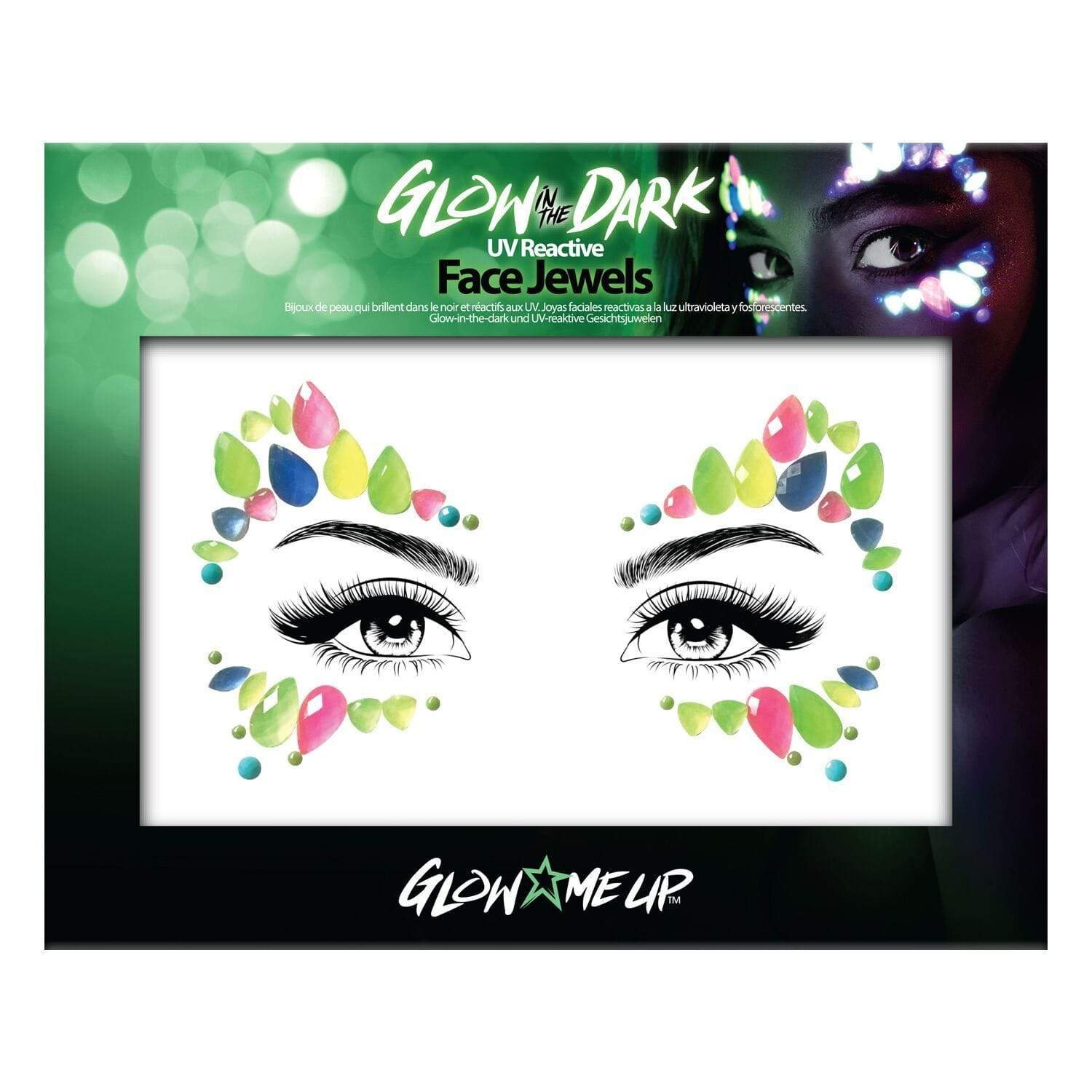 Glow In The Dark Face Jewels II - Jolie Beauty