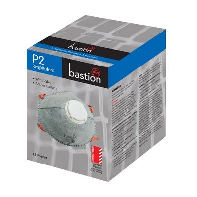 P2 Respirator with valve + Carbon - 12 Per Box