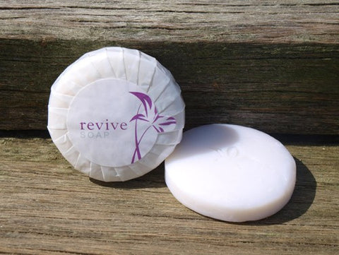 REVIVE 20g PLEATED SOAP - PURPLE & WHITE PLEAT WRAPPED - 400 PCS