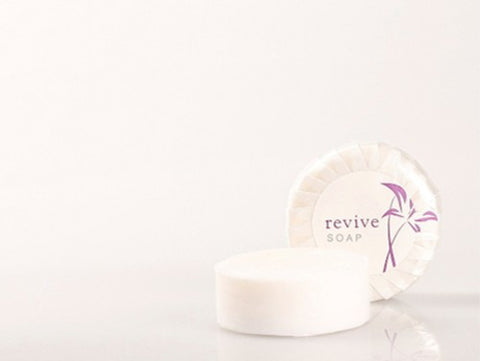 REVIVE 40g PLEAT WRAPPED SOAP - PURPLE & WHITE PLEAT WRAPPED - 250 PCS