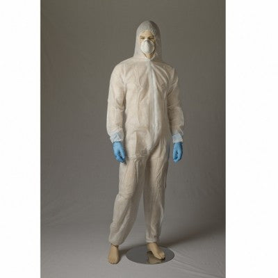 Polypropylene Coverall - White/Blue - Per Pair