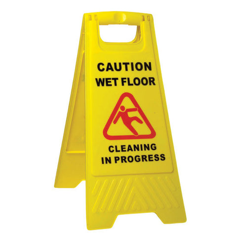 Caution Wet Floor/Cleaning In Progress - A Frame