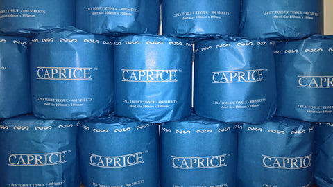 Caprice Toilet Paper Roll 400 Sheets - 2PLY - 48 Rolls