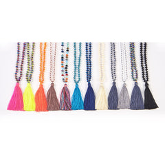 Simple Tassel Necklace with Crystal Beads $19.99