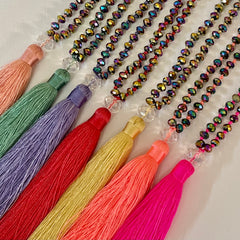 Crystal Tassel Necklaces