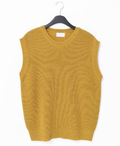Oversized Sweater Vest - Mustard