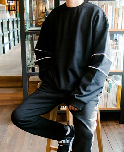 Line Sweatshirts - Black