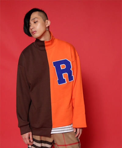 'R' Unbalance Sweatshirts - Orange